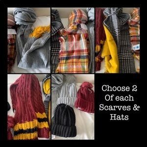 2 Hats & 2 Scarves (your choice or mystery bundle)